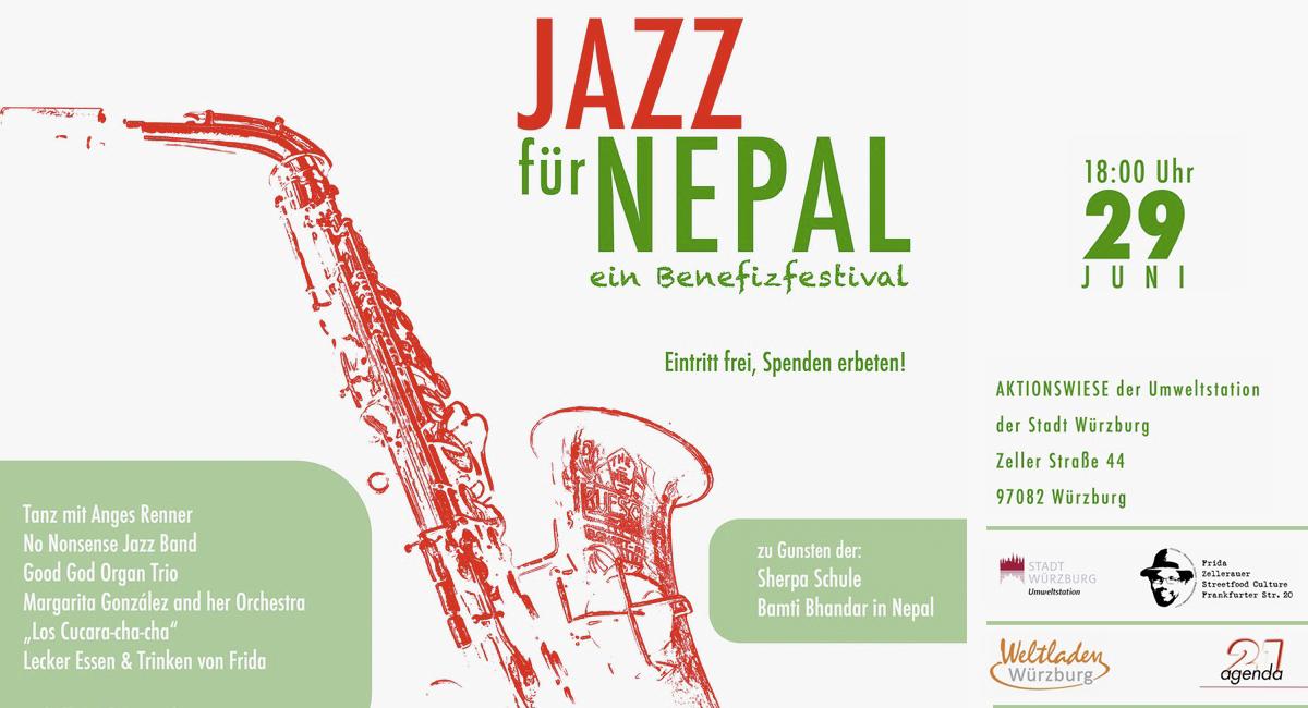 Benefizkonzert für die Sherpa Schule Bamti Bhandar Jazz für Nepal 2019 in Würzburg